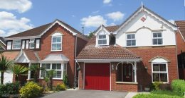 White decorative fascia, square guttering with swish roof spires Hedge End