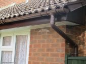 Replacement guttering and fascias in Romsey