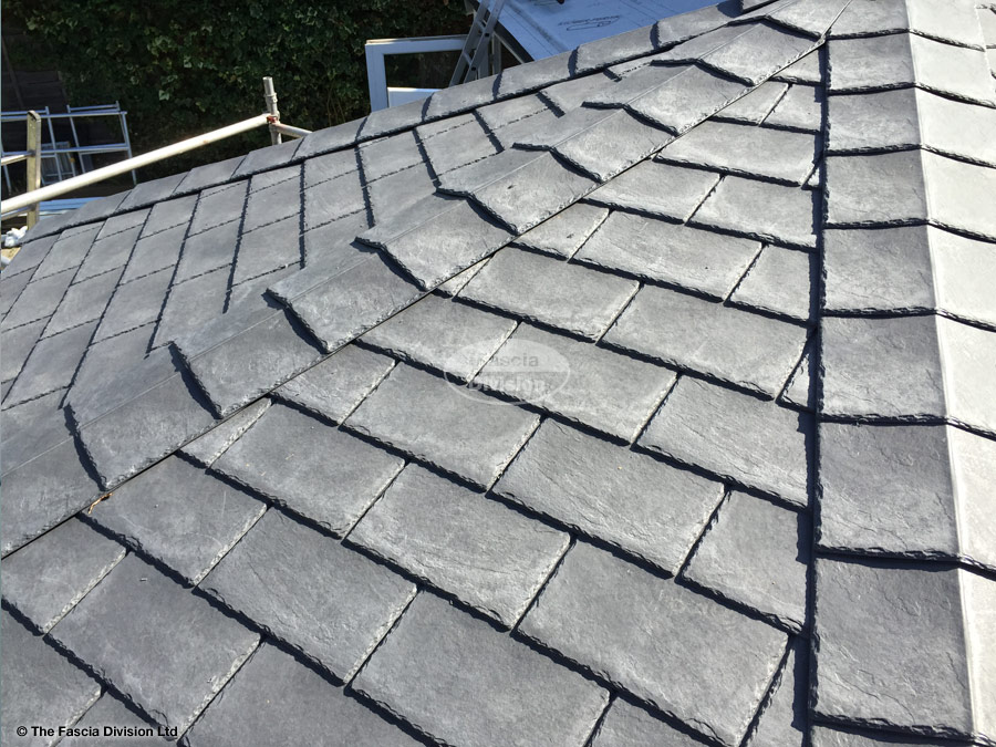 Equinox roof with composite slates on a conservatory for Composite roofing tiles