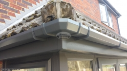 Anthracite Grey square guttering in Hamble