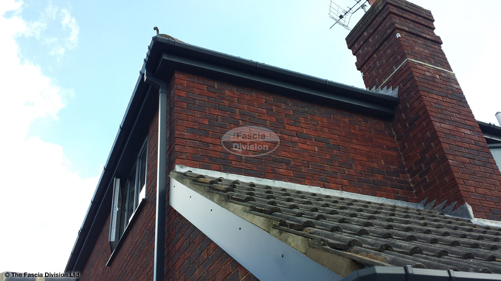 Anthracite Grey Fascias And Soffits In Hamble Le Rice