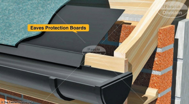illustration showing eaves protection boards