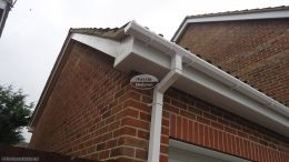 New Fascia Full Replacement Soffit Guttering Barge Board Cladding White UPVC Square Downpipe, Chandlers Ford, Eastleigh.
