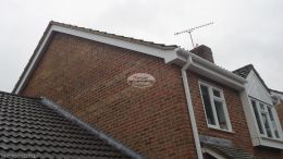 Replacement White Fascia Soffit Guttering Herringbone Clading Chandlers Ford