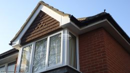 White fascia and soffit replacement
