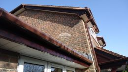 White soffit and Rosewood fascia installation Winchester, Hampshire