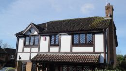 Installation of mock tudor beams in Eastleigh