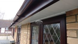 White UPVC tongue and groove soffit installation Eastleigh
