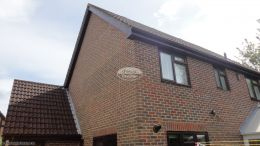 Full Replacement Rosewood Fascia Soffit And Guttering On A Detached Property In Hedge End Southampton