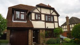 Full replacement fascias soffits guttering on detached property in Hedge End Southampton