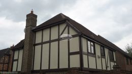 Replacement fascias soffits with rosewood Upvc on this detached property in Southampton