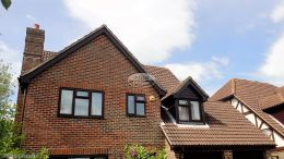 Replacing Rosewood Fascias Soffits With Brown Halfround Guttering Hedge End Southampton
