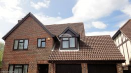 Rosewood Cladding Replacement Fascias Soffits And Guttering Hedge End Brown Downpipe