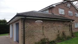Southampton recent Installation Garage rooftrim White fascias soffits and guttering Black downpipe