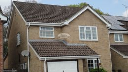 fascia board replacement hedge end recent work white soffit guttering