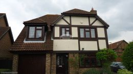 recent full replacement rosewood standard fascias tongue and groove soffits brown half round guttering