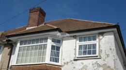 replacing soffits and fascia boards black halfround gutter system southampton