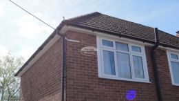 standard fascia tongue and groove soffit black half round guttering replacement southampton