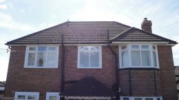 white soffit fascia guttering recent full replacement southampton black guttering