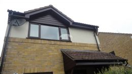 Fascia Boards Soffits And Guttering In Mahogany On A Detached Property In Winchester