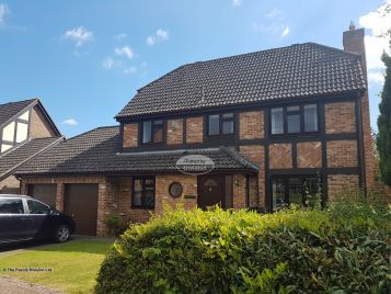 Full Replacement Fascias Soffits and Guttering on a detached property in Hedge End