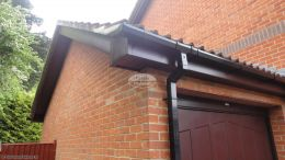 Installation Of New Upvc Fascias Soffits And Guttering On A Detached Property In West End