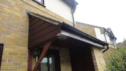 Recent Full Installtion Of Upvc fascias soffits guttering Cladding Mahogany Winchester