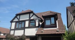 Replacement of UPVC rosewood fascias soffits and brown guttering Hedge End Southampton
