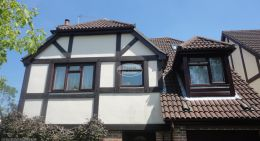 Replacement rosewood fascia soffit and guttering Hedge End Southampton