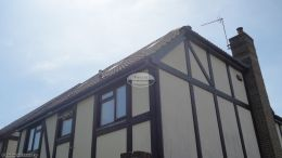 Replacing fascias soffits and guttering at back of detached house Hedge End Southampton