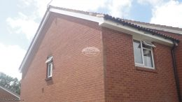 Replacement of UPVC white fascias soffits and black half round guttering on gable end West End Southampton