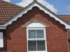 Installation of UPVC decorative fascia on the gable end in Hedge End