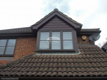 Rosewood cladding on dorma window