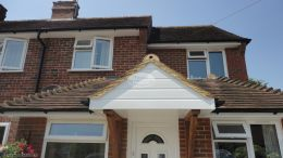 UPVC shiplap cladding on a porch by The Fascia Division