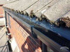 RAL 7016 guttering with gutter guard and eaves tray visible