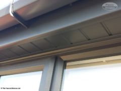UPVC RAL 7016 fascia, soffit and guttering perfectly matching the windows