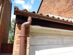 UPVC fascia, soffit and guttering recent installation in West End