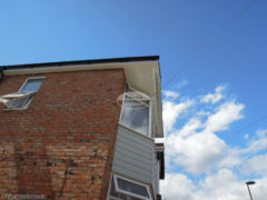 UPVC fascia, soffit and guttering with Hardieplank weatherboard cladding