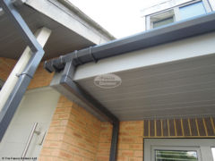 Grey UPVC fascia, soffit and guttering installation