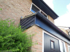RAL coloured UPVC fascia installation