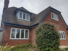 RAL 7015 grey fascia and guttering