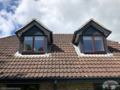 Anthracite UPVC shiplap cladding on domer windows