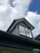 Anthracite fascia and cladding on a dormer window