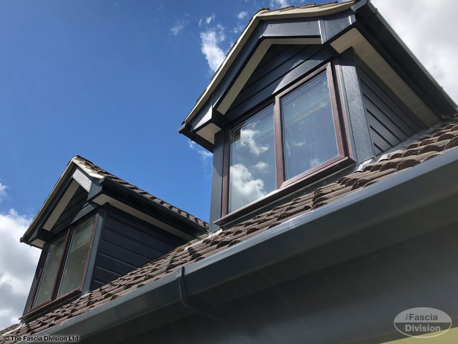 Anthracite cladding and fascia on dormer windows