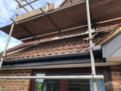 Scaffolding to access dormer window