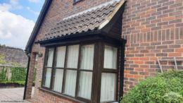 Black UPVC fascias, guttering and shiplap cladding