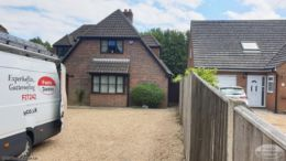 Replace fascias, soffits and guttering on a detached house