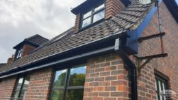 UPVC black guttering and black fascias