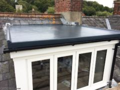 GRP flat roof on a dormer