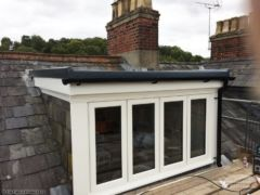 GRP roof, new window and new fascias and guttering